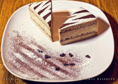 Chocoffee Praline Crepe Cake