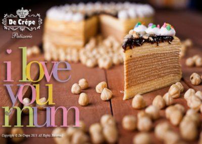 Hazelnut Crepe Cake
