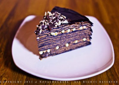 Pure Chocolate Crepe Cake