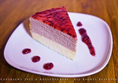 Raspberries Yogurt Crepe Cake