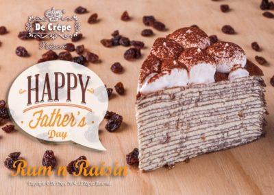 Rum & Raisin Crepe Cake *Alcoholic