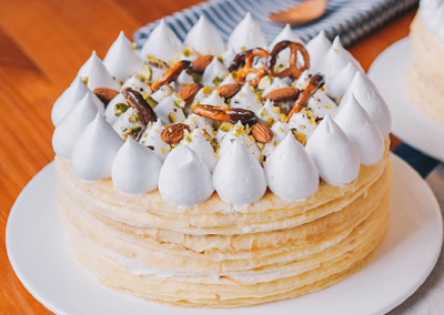 White Chocolate Crepe Cake